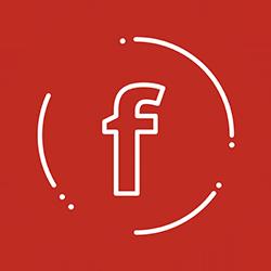 Facebook fondo rojo