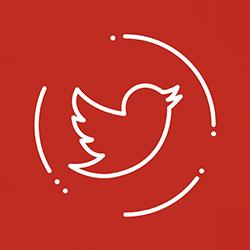 Twitter fondo rojo